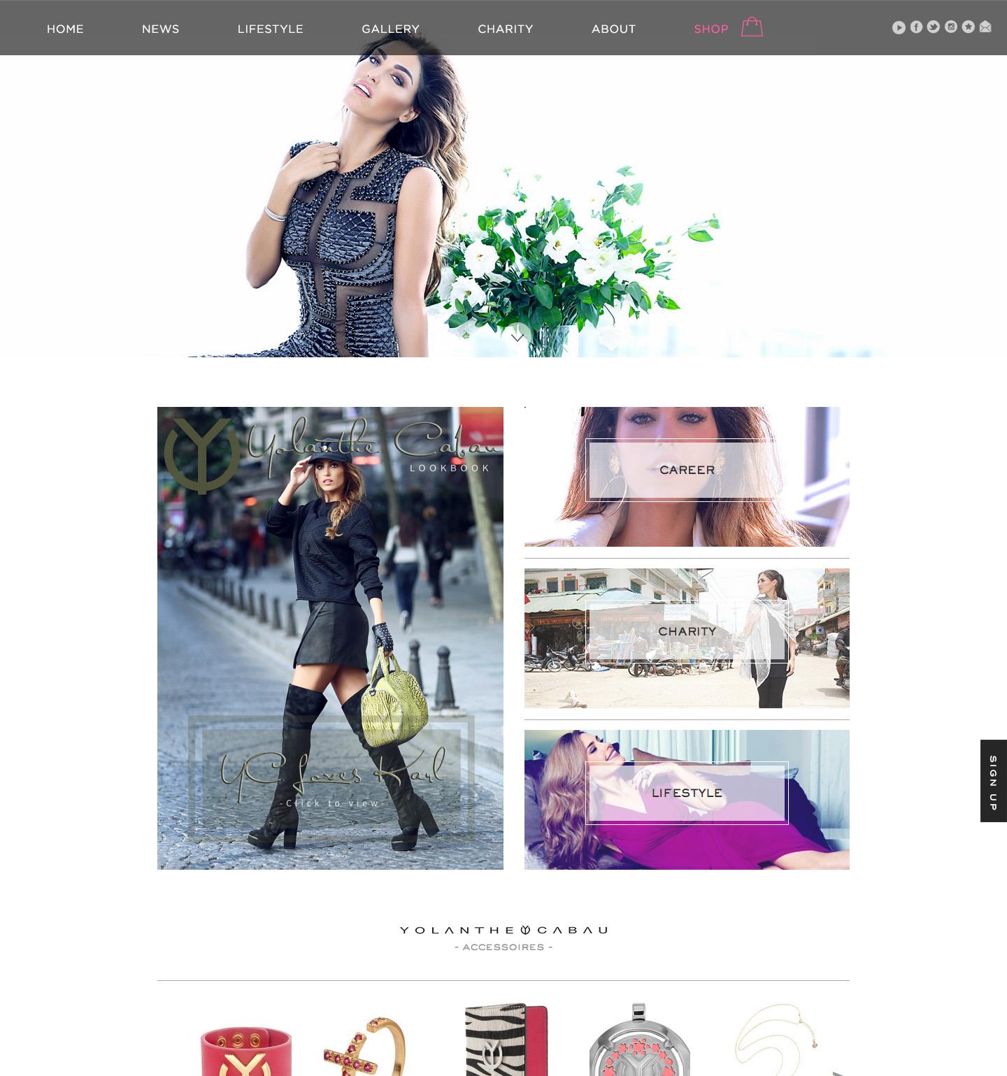 Yolanthe Cabau Homepage - Menu